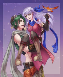 Sothe and Micaiah by Eeveetachi