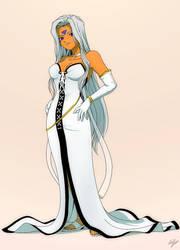 Urd in White dress by EastCoastCanuck