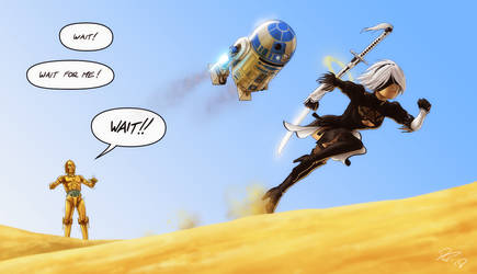 Droids meet Android Pt.2 by EastCoastCanuck