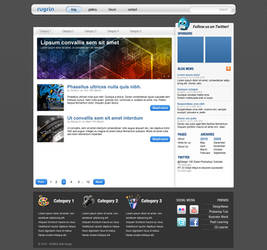 'Blue Carbon' Blog Design by RUGRLN