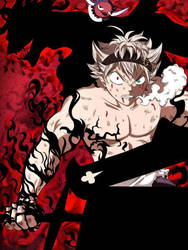 Muscle cutie ASTA-KUN in his demon form! :-o by Makoto-nii-chan