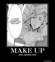 Make Up Level: Maurice Cole by sanguinum-lacrymis