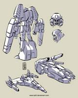 More Triple Changer Megatron by iq40