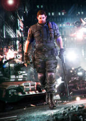 Fighting for better future! 2 (Chris Redfield) by YegiHCH26