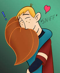 Ron and Kim hug by CarbonF