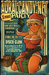 AuralCandy.net X-mas Poster by blitzcadet