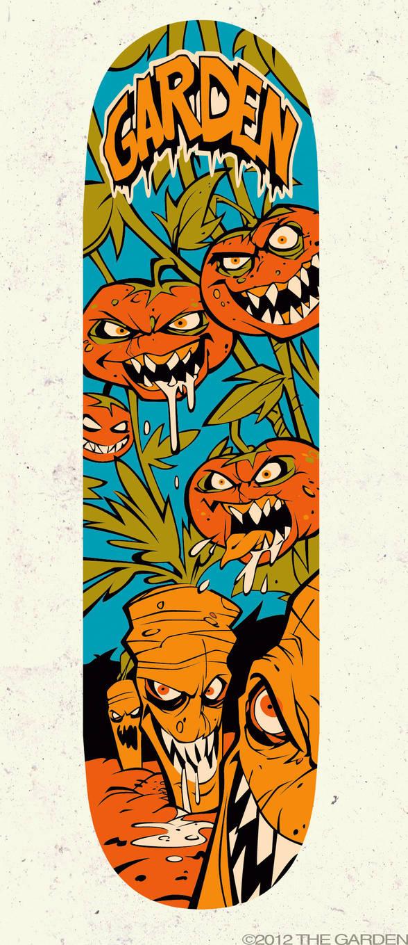 Vegetables Skateboard by blitzcadet