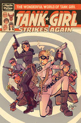 Wonderful World of Tank Girl - Issue 1 Cover by blitzcadet