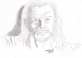 Chris Hemsworth as Thor by StevenWilcox