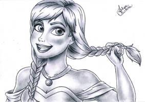 Princess Anna - Disney's Frozen by filipeoliveira