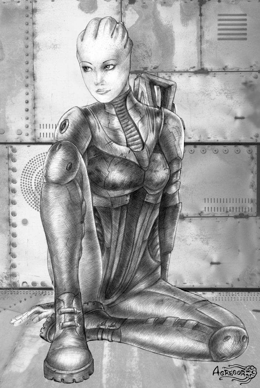 Mass Effect 2 Battle Liara by Agregor