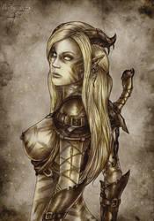 Dragon age 2  Qunari-girl by Agregor