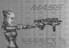 Mass Effect 3 Liara_Thorny Rose by Agregor