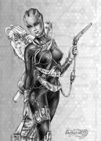 Mass Effect 3_ Asari _ Fire Butterflies by Agregor