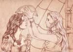 Kiani and Sandara Quinn by Agregor