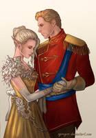 Cullen and Lauren Lavellan  by Agregor