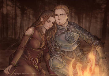 Alistair and Kylara, Dragon Age by Agregor