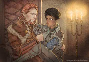 Alistair and Valwyn by Agregor