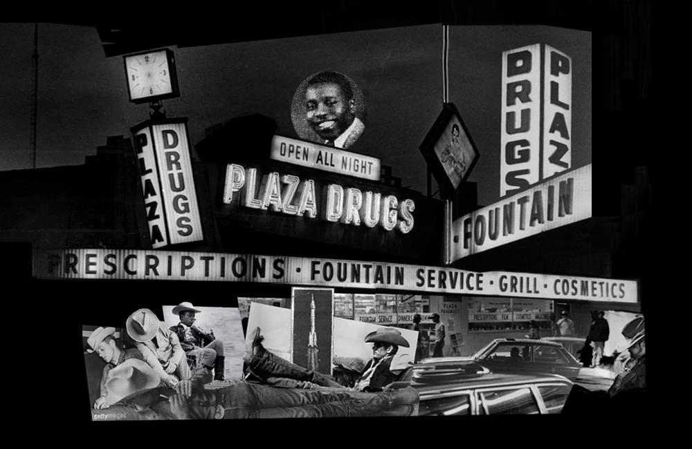 Midnight at Plaza Drugs by greycom