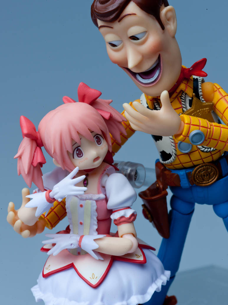 Madoka and Woody by Naiiki