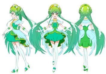 Go! Princess Precure OC Cure Zephyr by Rona67