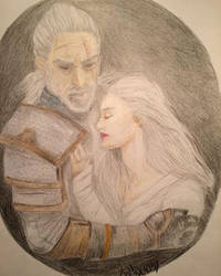 Geralt and Ciri - Witcher by steadybarbarian