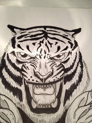 TIGER ( SPEED DRAWING VIDEO link included) by RustyRobot1986