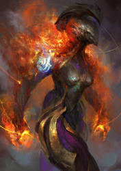 Warframe - Fiery space temper by theDURRRRIAN
