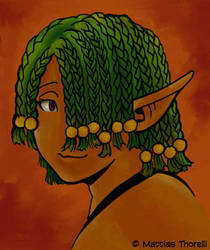 Atresica's face - Painter - by SadWindling