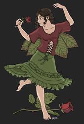 Flower Faeries 3: Rose by SadWindling