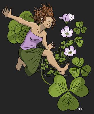 Flower Faeries 4: Shamrock by SadWindling
