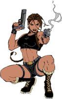 Lara Croft Doodle no.4 by twicebefore