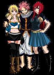 Natsu, Erza y Lucy by juli95