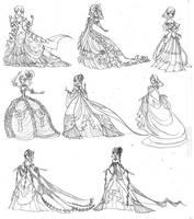 Rosalie's Ballroom Gowns by ebonysnowwhite