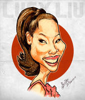 Lucy Liu - Caricature by libran005