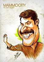 Mammootty - Caricature by libran005
