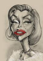 Marilyn Monroe Caricature by libran005