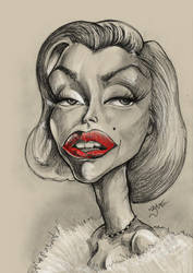Marilyn Monroe Caricature by libran005