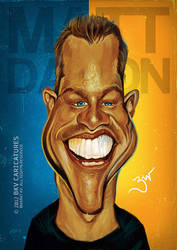 Matt Damon - Caricature by libran005