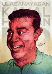 Kamal Hassan - Portrait by libran005