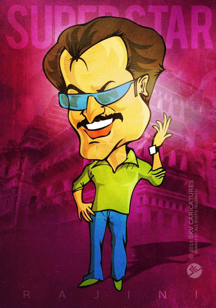 Rajinikanth - Caricature Series by libran005