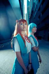 Asuka and Rei by zerartul