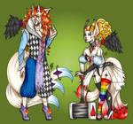Halloween Floofs - Creepy Clown Twins [PENDING] by Ra-Punzelle