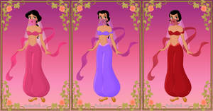 Harem Girls from Aladdin by zozelini