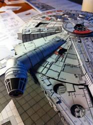 Millenium Falcon Papercraft (WIP) by Ohnhai