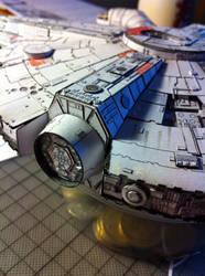 Millenium Falcon Papercraft (WIP3) by Ohnhai
