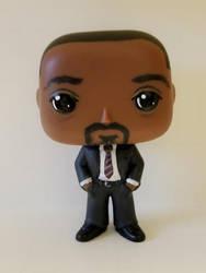 Custom Funko Pop Detective Joe West from The Flash by LMRourke