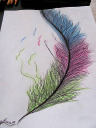 Colorful Feather by Bubbleeeification