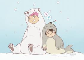 Seal and Polar Bear by VanyCat