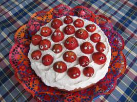 strawberry cake by bacdafuckup